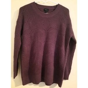 Torrid Pullover Sweater Pointelle Wine Size 00x